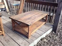 barnboard pine rustic coffee and end tables matching this oak contemporary interior design suitable for living