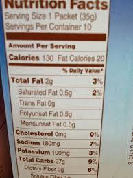 b quaker nutrition facts