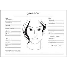 Face Chart Book Pad For Makeup Artists Found On Polyvore