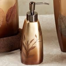 Brown Bathroom Accessories Sheffield Leaf Bath Accessories