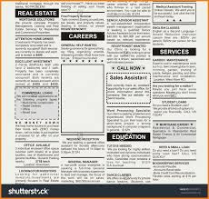 Newspaper Classified Ads Template Newspaper Ad Template Merrychristmaswishes Info