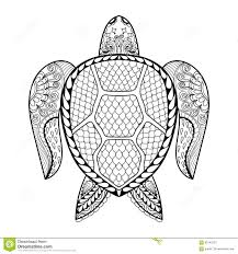 Small Picture Hand Drawn Sea Turtle For Adult Coloring Pages In Doodle Zentan