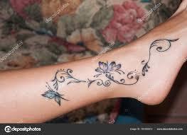 Tetování Na Nohu Stock Fotografie Stefanocarocci 191055912