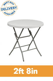2ft 8in round plastic folding table