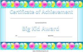 Kids Award Certificate Certificates For Children Free Printable Kid Awards