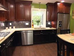 Dark Brown Kitchen Cabinets Kitchen White Pendant Light Brown Chairs Brown Kitchen Table