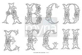 crafty printable vine alphabet beautiful lettering from the 1800s myria
