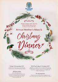 christmas dinner poster mothers mass and christmas dinner nudgee college