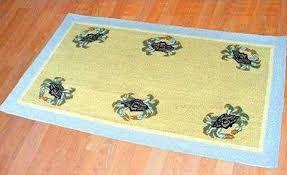 blue crab 3 x 5 wool area rug