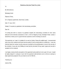 Sample Thank You Interview Letter Thank You Interview Letters Bunch
