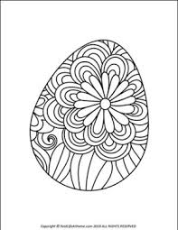Easter Egg Coloring Pages Free Printable Easter Egg Coloring Book