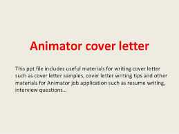 Sample Cover Sheet For Resume Animator Cover Letter