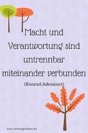 Konrad Adenauer Macht Zitat Verantwortung Sprüche Anerkennung