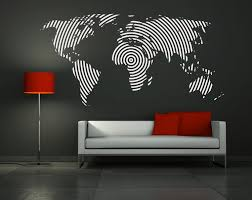 wall decal vinyl sticker home decor modern art mural  big world