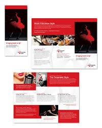 Education Brochure Templates Arts Education Center Tri Fold Brochure Template