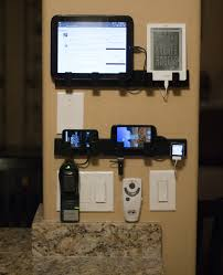 Make Charging Station Wall Mounted Device Chargins Station Ikea Towel Racks And Hidden