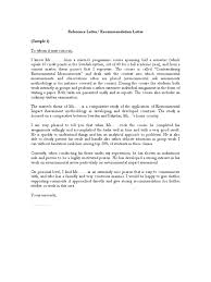 Samples of Reference Letter Recommendation Letter PDF May 2 2008-7 ...