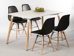 Tischgruppe Esstisch Ilka Weiß 4 Stühle Ronald Schwarz Essgruppe