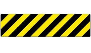 Black And Yellow Stripes Border Anti Slip Diagonal Caution Stripes Stair Marker