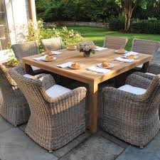 furniture wicker outdoor dining chairs brown piece all