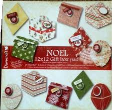 dovecraft 12 x 12 gift box pack noel with glitter effects country view crafts