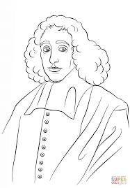 Baruch Spinoza Kleurplaat Gratis Kleurplaten Printen