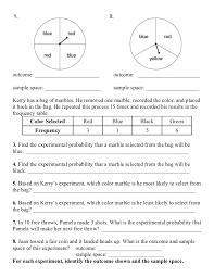 Sample Space Probability Worksheet Worksheets for all | Download ...