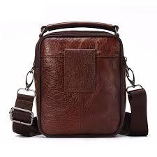 fuzhiniao men luxury genuine leather messenger bag brand designer high quality shoulder bag cod