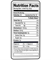 Chicken Egg Nutrition Chart Nutritional Labels Vertical