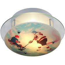hockey fans will love this hockey sports ceiling light perfect for the bedroom or as