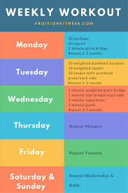 A Fitness Plan Weekly Fitness Plan Build More Than Muscle