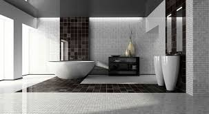 Bathroom Modern Large Interior Black And White Design Featuring