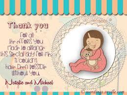 Baby Gift Thank You Note 30 Unique Baby Shower Floral Arrangements Spmkerala Com