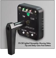 electroswitch arc flash switch breaker control switch relay time delay trip and close for arc flash safe operation