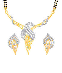 vk jewels fabulous design gold and rhodium plated mangalsutra pendant set with earrings vk jewels fabulous design gold and rhodium plated mangalsutra