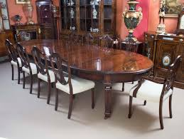 antique 12ft 6 edwardian dining table 10 chairs 10 chair dining table dimensions on