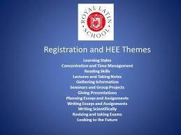 registration and hee themes learning styles concentration and time  registration and hee themes learning styles concentration and time management reading skills lectures and taking notes