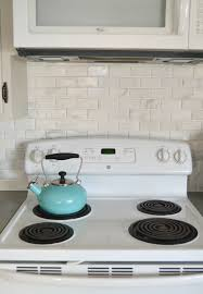 Diy Kitchen Tile Backsplash Kitchen Makeover Diy Stone Tile Backplash My Creative Days