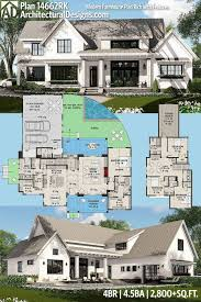 one story farmhouse plans with plan rk modern farmhouse plan rich with features