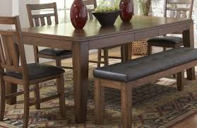 Black Kitchen Table With Bench Espresso Upholstered Dining Set