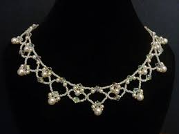 FREE beading pattern for <b>necklace</b> Netted <b>Pearls</b> в 2020 г ...