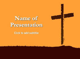 Good Friday Power Of The Cross Powerpoint Template Free