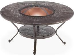 winston firepit cast aluminum 48 round metal fire pit table