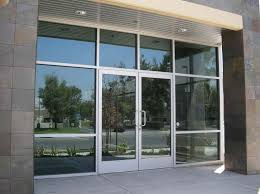image of glass exterior door large