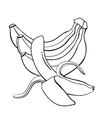 Small Picture Free Banana Coloring Page