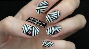 Halloween Mummy Nail Art - YouTube
