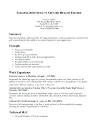 Administrative Assistant Resume Objective Sample Sample Resume Executive Assistant Administrative Assistant Resume 43