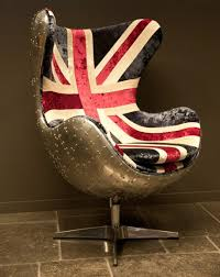 union jack furniture. Casa Padrino Art Deco Egg Chair Swivel Chair Armchair Aluminum / Union Jack  - Club Chairs Union Jack Furniture R