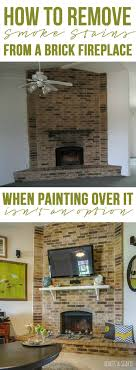 a fix for smoke stains on a brick or stone fireplace surround using a
