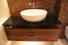 sink furniture cabinet. Floating Walnut Sink Cabinets With Black Granite Combination Furniture Cabinet